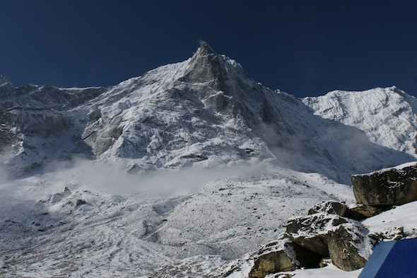 Tengkangpoche Nordwand / Northface from Basecamp